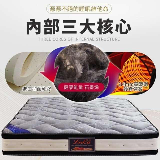 【LooCa】石墨烯遠紅外線獨立筒床墊